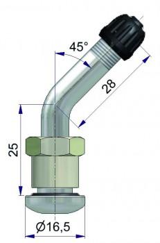 Вентиль латунный б/к  42168-68